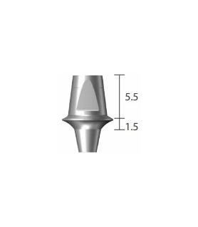 pilier droit transvissé Ø 6,5 épaulé à 3,5 mm